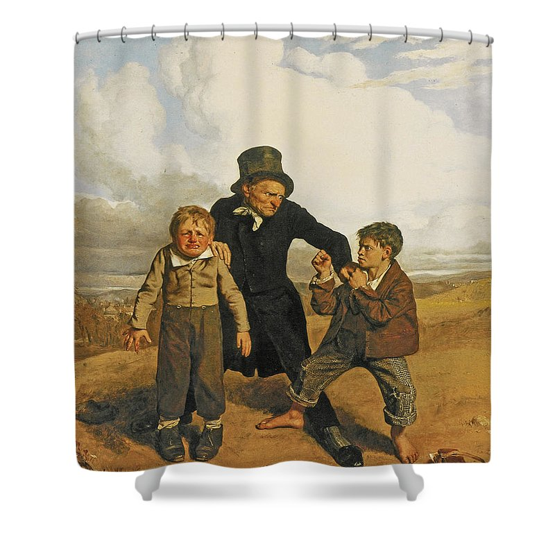 John Faed Shower Curtain featuring the painting Boyhood by John Faed