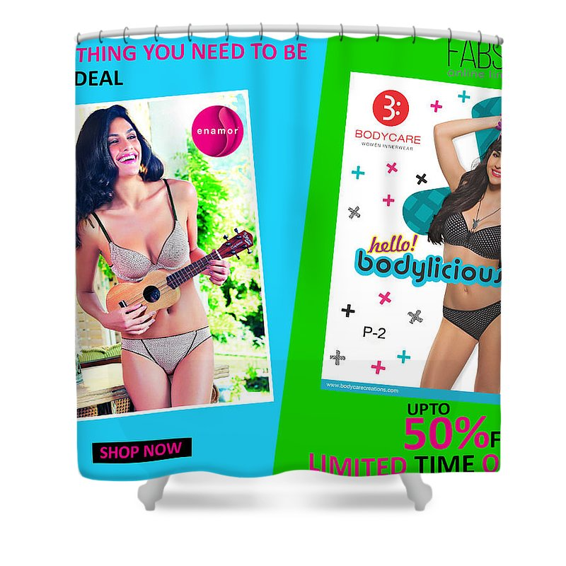 Online Bra Shower Curtain featuring the photograph Bra Shop Online by Underwire Bra Online