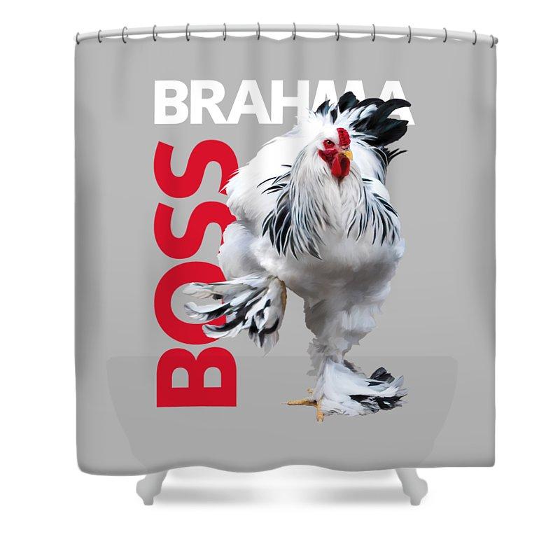 Brahma Shower Curtain featuring the digital art Brahma Boss T-shirt Print by Sigrid Van Dort
