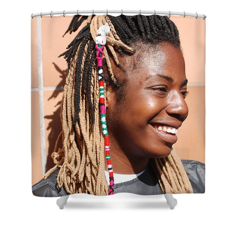 People Shower Curtain featuring the photograph Braided Lady by Rob Hans