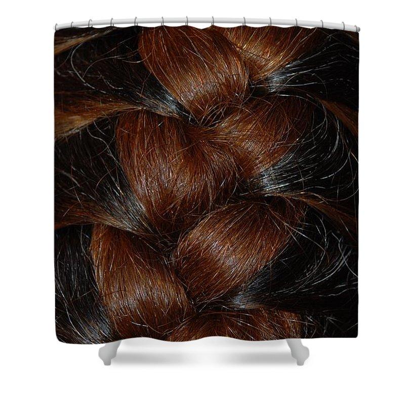 Hair Shower Curtain featuring the photograph Braids by Rob Hans