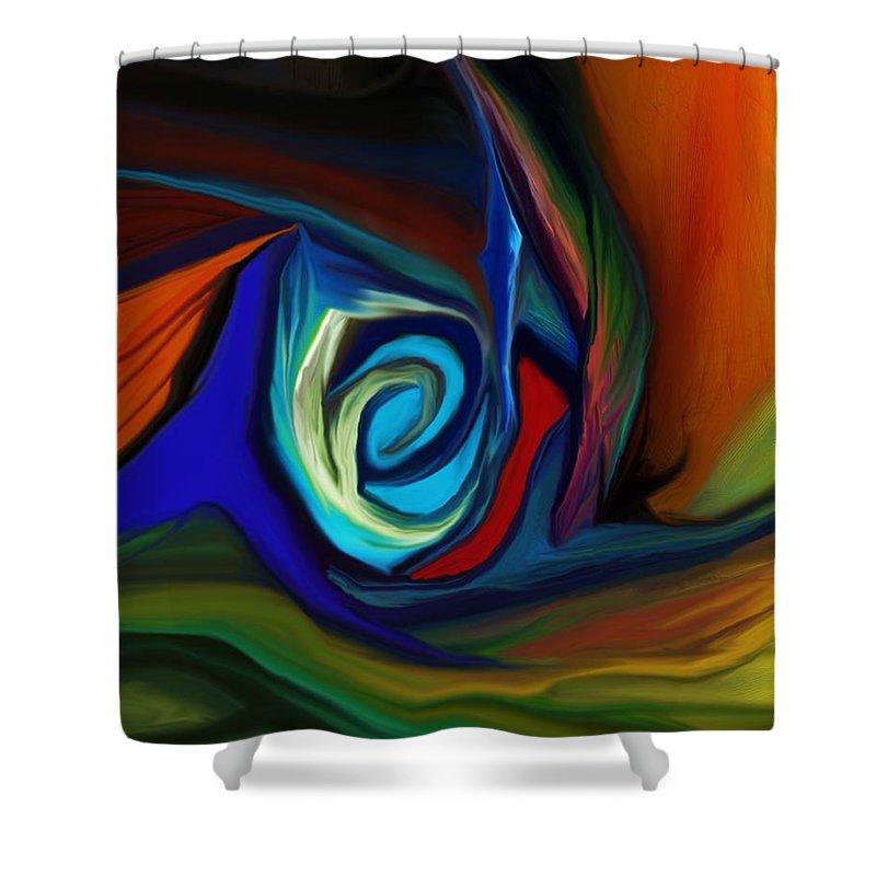 Fine Art.abstract Shower Curtain featuring the digital art Brain Storm by David Lane