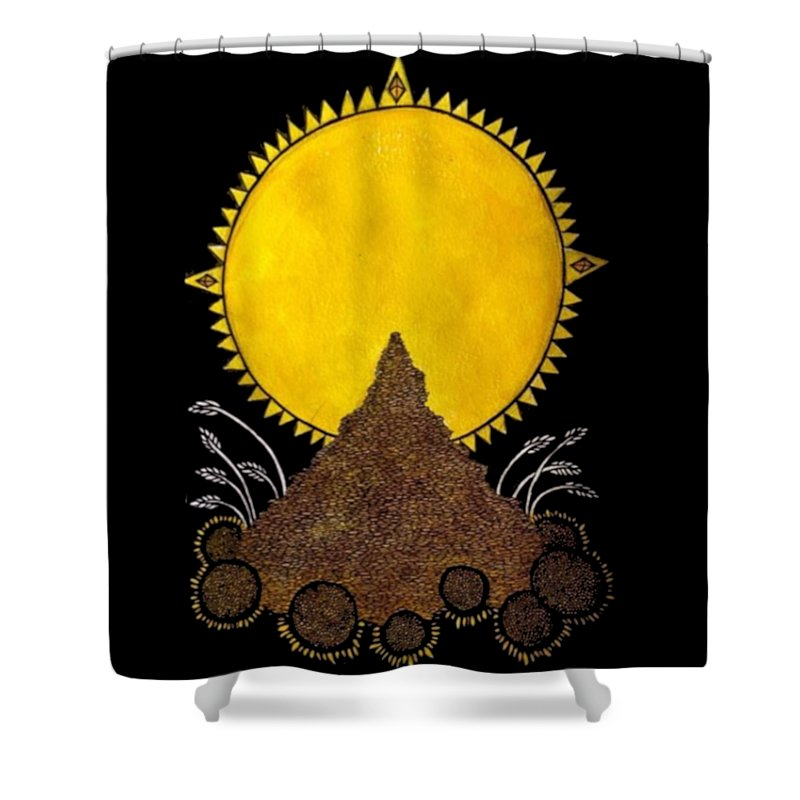Gothic Shower Curtain featuring the digital art Brains Brewing Sunday Design By Warwickart by Beth Scannell