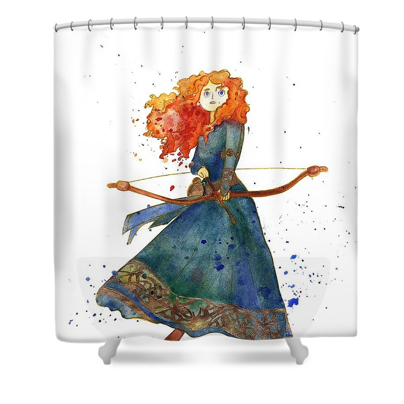 Disney Princess Shower Curtain Featuring The Painting Brave