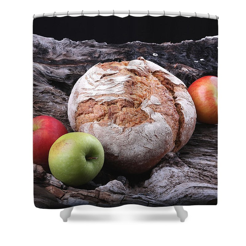 Bread Shower Curtain featuring the photograph Bread Landscape by Manfred Lutzius