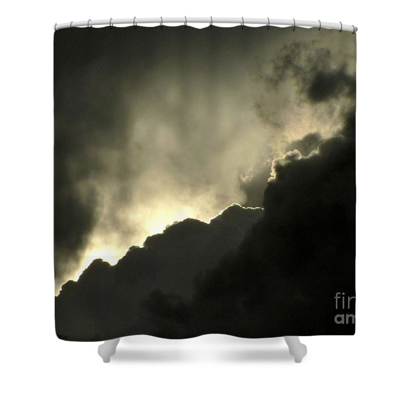 Storm Clouds Shower Curtain featuring the photograph Break In The Storm by Marilyn Smith