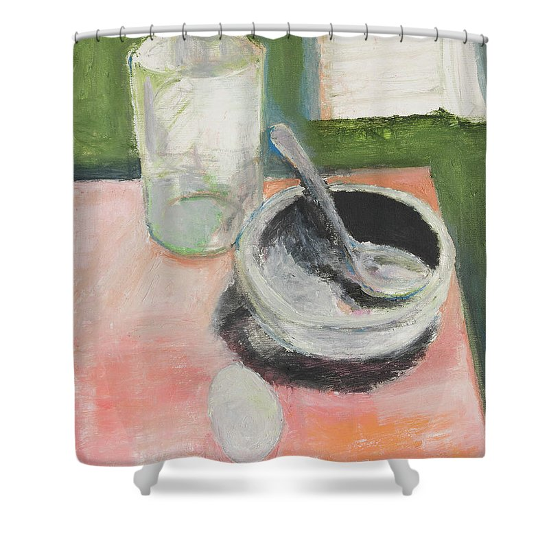 Still Life Shower Curtain featuring the painting Breakfast by Craig Newland