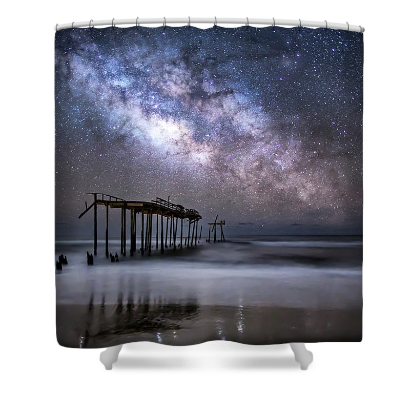 Milky Way Shower Curtain featuring the photograph Breaking Away by Jay Wickens