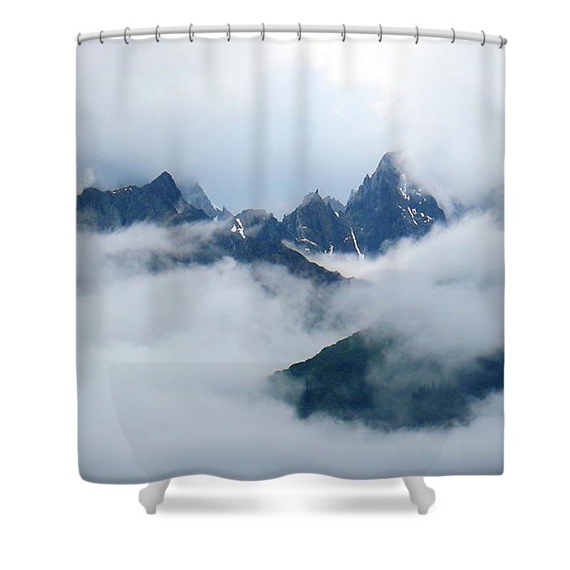 Clouds Shower Curtain featuring the photograph Breaking Through by Jeff Kudla