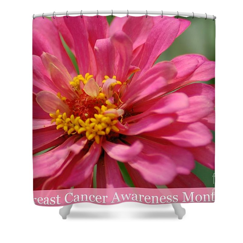 Cancer Awareness Month Shower Curtain featuring the photograph Breast Cancer Awareness Month by Donna Bentley