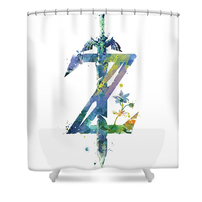 Breath Of The Wild Shower Curtain Featuring Mixed Media By Monn