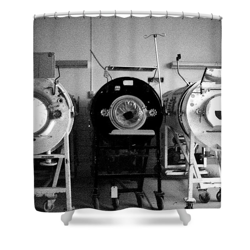 Iron Lungs Shower Curtain featuring the photograph Breathe by Conor McLaughlin