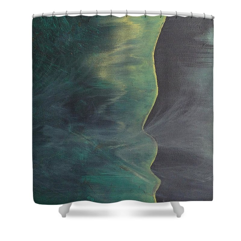 Breath Shower Curtain featuring the painting Breathe by Saira Scott