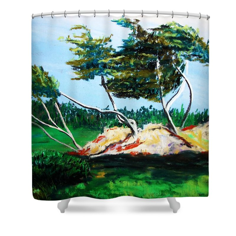 California Shower Curtain featuring the painting Breezy by Melinda Etzold
