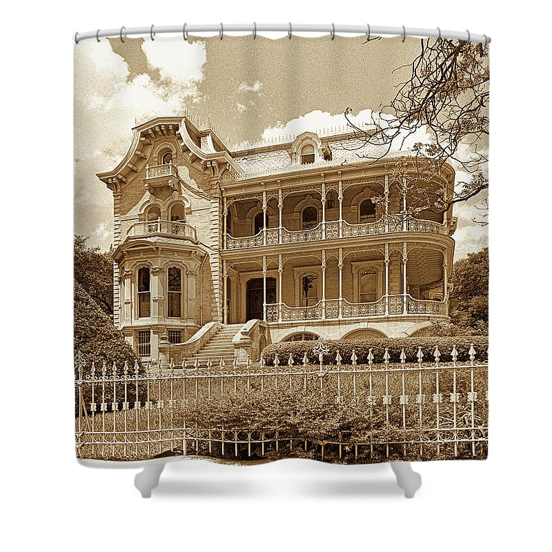 Shower Curtain featuring the photograph Bremond House I I I by Jim Smith