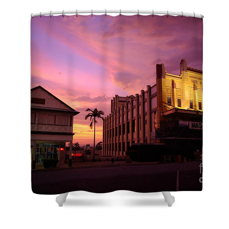 Evening Shower Curtain featuring the photograph Brewing Storm by Kerryn Madsen- Pietsch