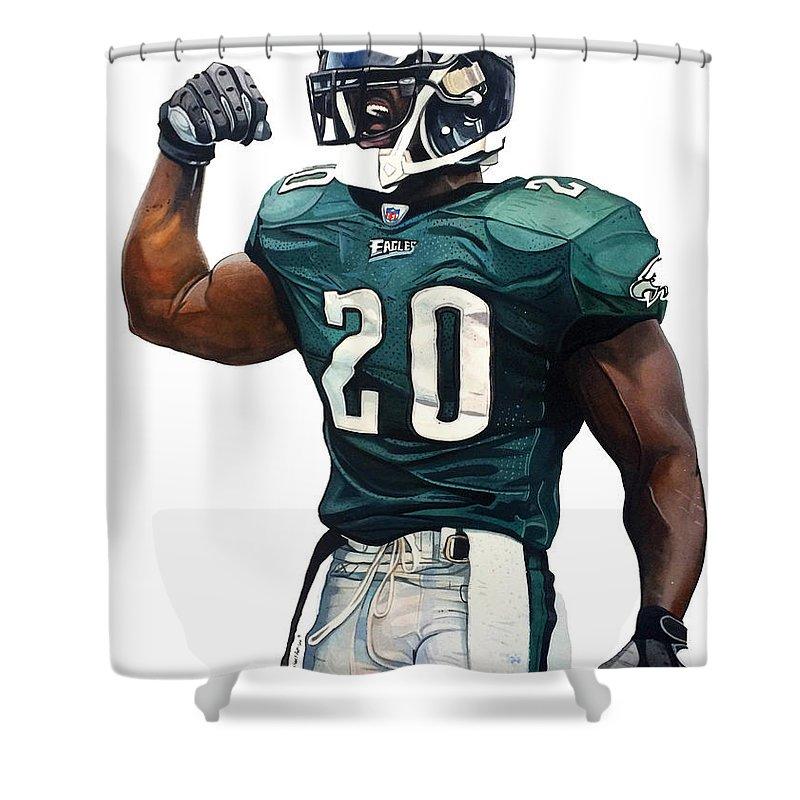 Brian Dawkins Philadelphia Eagles Shower Curtain For Sale By
