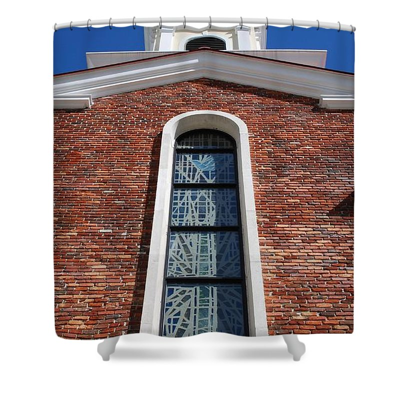 Architecture Shower Curtain featuring the photograph Brick Church by Rob Hans