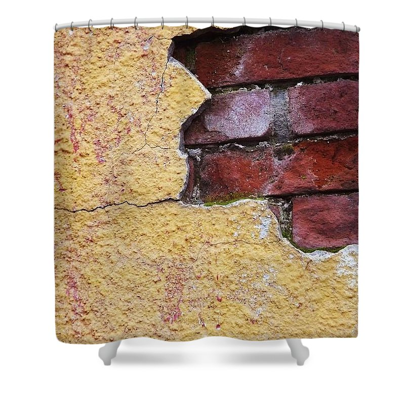 Brick Exposed Shower Curtain For Sale By Rochelle Evonne Pigman