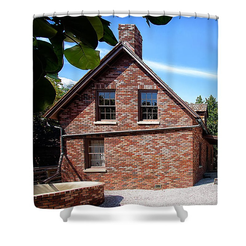 Brick Shower Curtain featuring the photograph Brick House by Camille Lopez