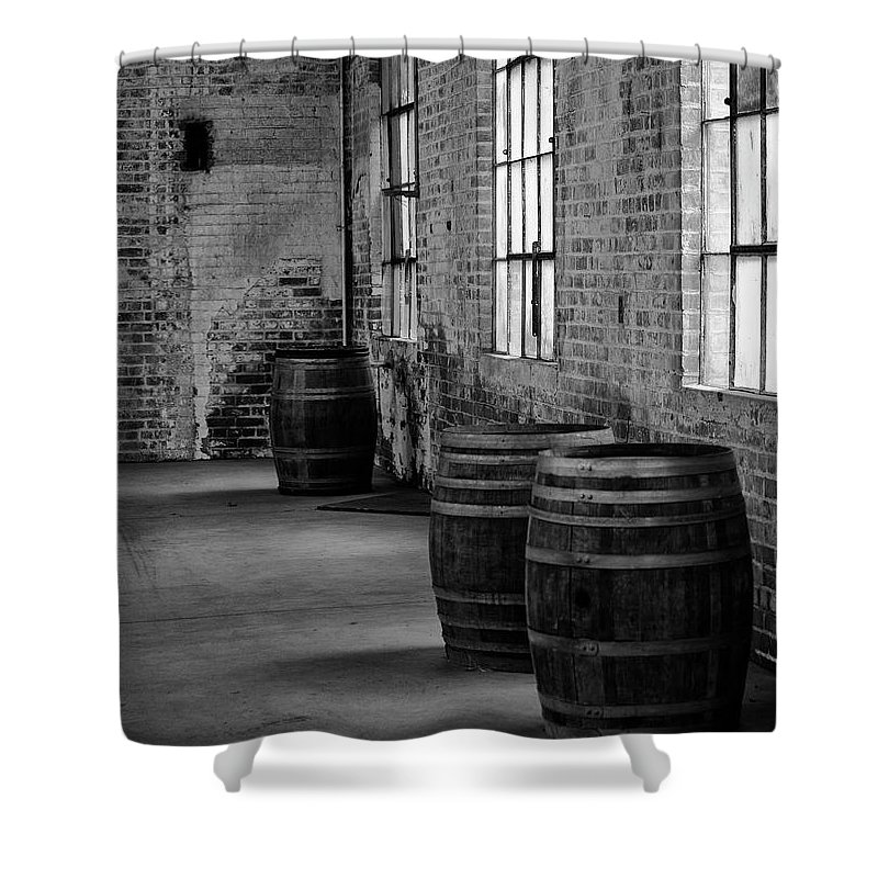 Casks Shower Curtain featuring the photograph Brickroom by Philip Venable