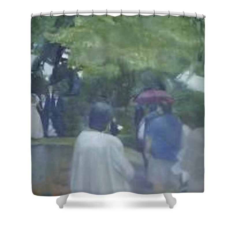 Wedding Shower Curtain featuring the painting Bridal Showers by Sheila Mashaw