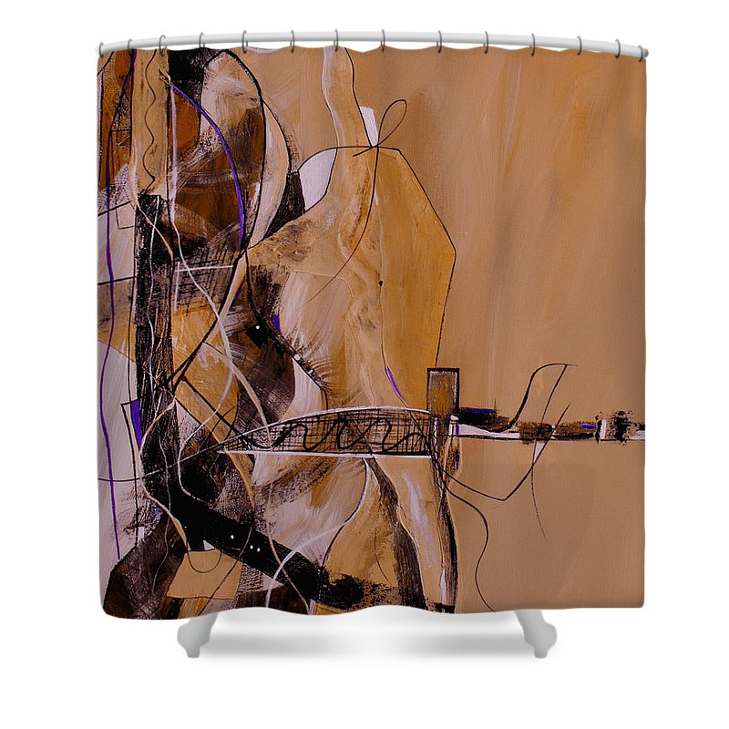 ruth Palmer Shower Curtain featuring the painting Bridge Over Troubled Water by Ruth Palmer
