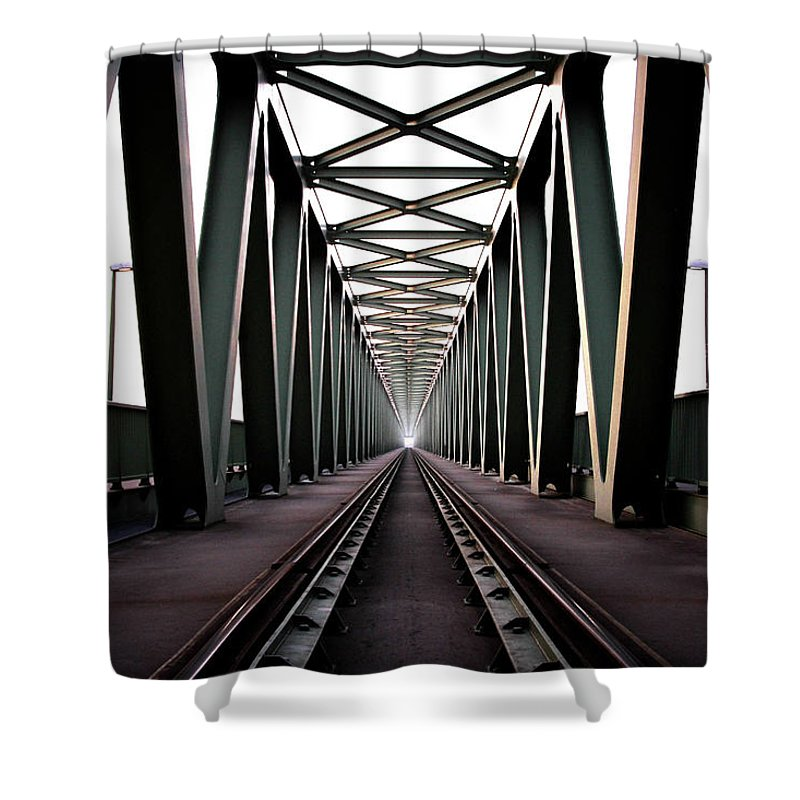 Bridge Shower Curtain featuring the photograph Bridge by Zoltan Toth