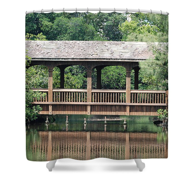 Architecture Shower Curtain featuring the photograph Bridges Of Miami Dade County by Rob Hans
