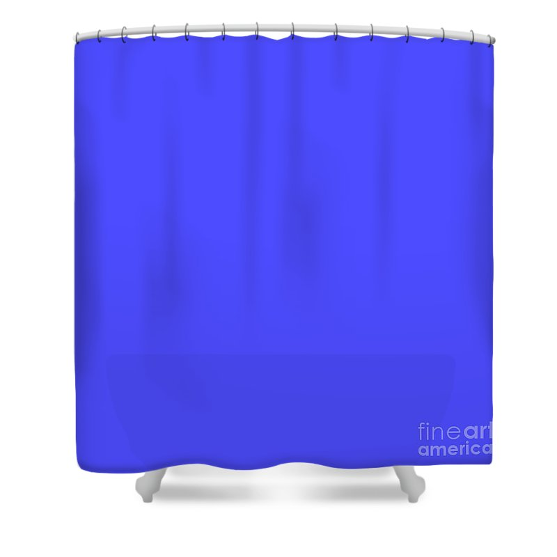 Bright Fluorescent Blue Neon Shower Curtain Featuring The Digital Art Electric By