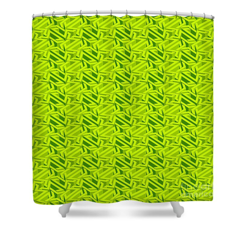 Bright Green Maze Shower Curtain For Sale By Yurii Perepadia