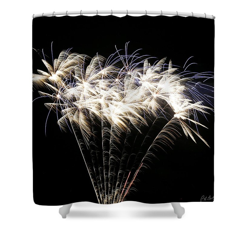 July 4th Shower Curtain featuring the photograph Bright Lights by Phill Doherty