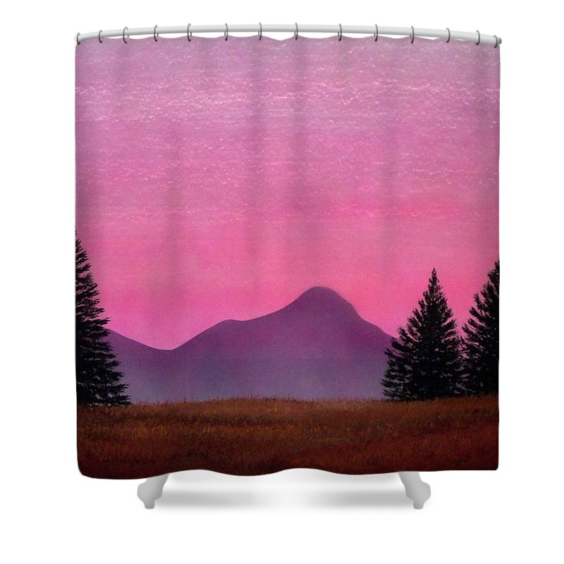 Landscape Shower Curtain featuring the painting Brightness by Frank Wilson