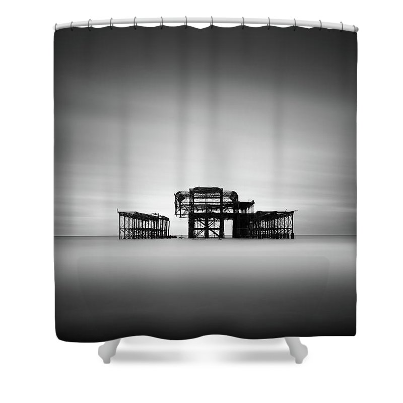 West Pier Shower Curtain featuring the photograph Brighton West Pier by Ivo Kerssemakers
