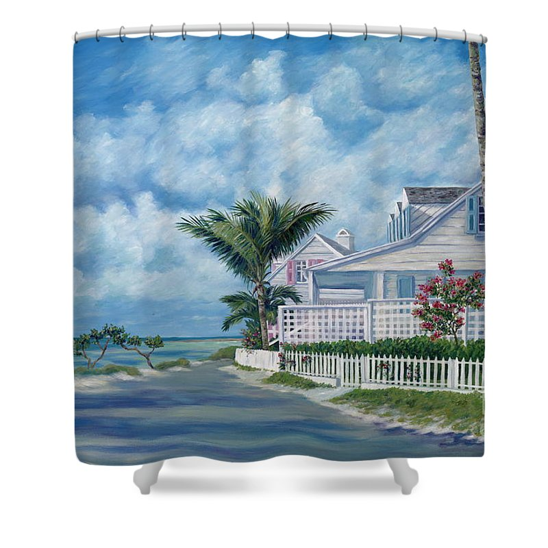 Harbor Island Shower Curtain featuring the painting Briland Breeze by Danielle Perry