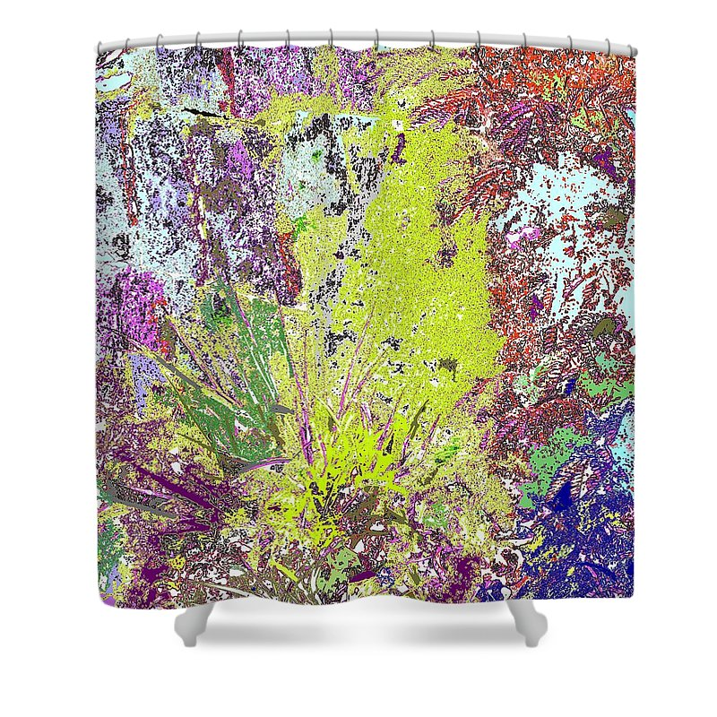 Abstract Shower Curtain featuring the photograph Brimstone Fantasy by Ian MacDonald