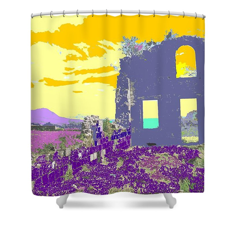 Brimstone Shower Curtain featuring the photograph Brimstone Sunset by Ian MacDonald