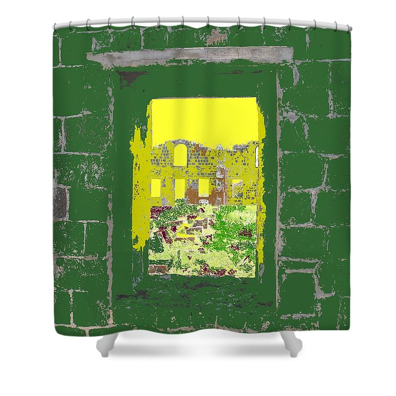 Brimstone Shower Curtain featuring the photograph Brimstone Window by Ian MacDonald