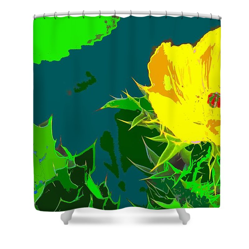 Shower Curtain featuring the photograph Brimstone Yellow by Ian MacDonald
