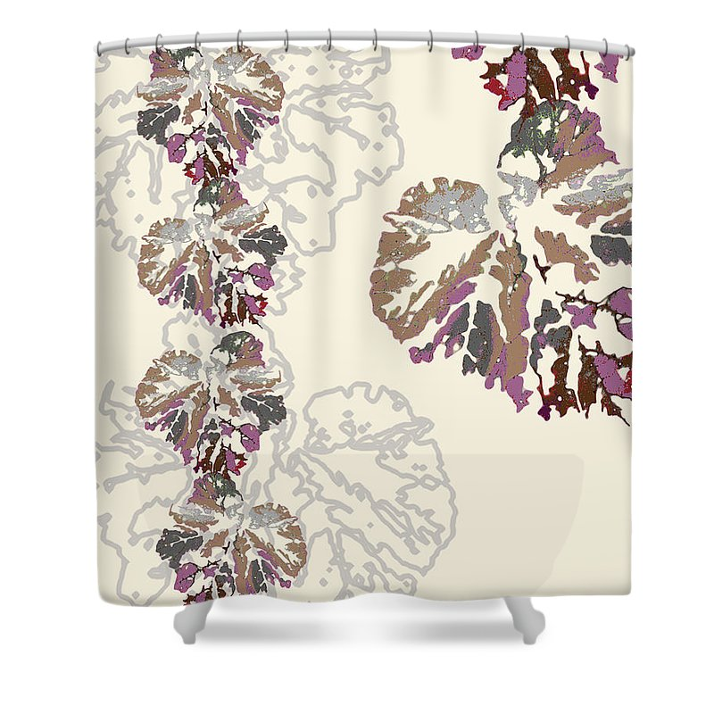 Leaves Shower Curtain featuring the digital art Brin by Ceil Diskin