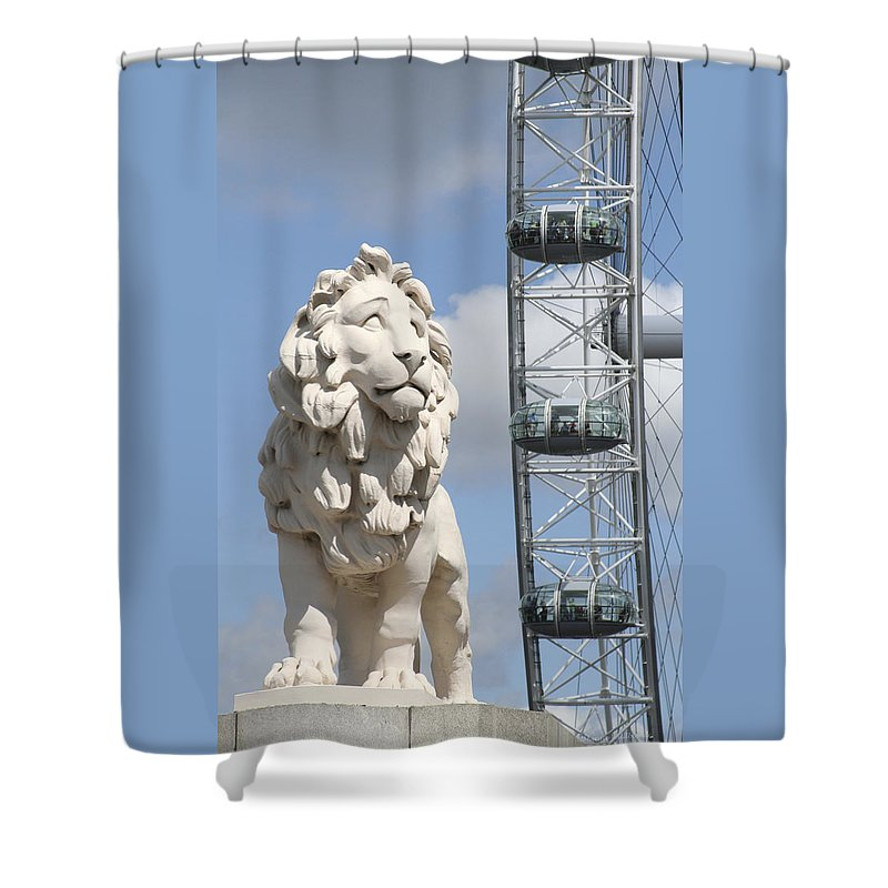 Lion Shower Curtain featuring the photograph Britannia Lion by Margie Wildblood