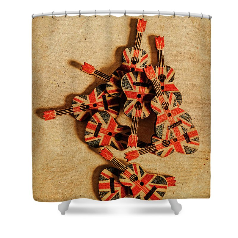 Vintage Shower Curtain featuring the photograph British Sound Stage by Jorgo Photography - Wall Art Gallery