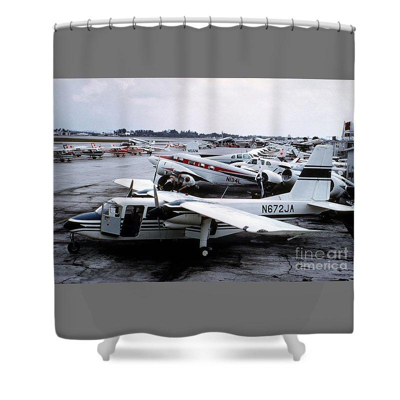General Aviation Shower Curtain Featuring The Photograph Britten Norman Bn 2 Islander Aircraft