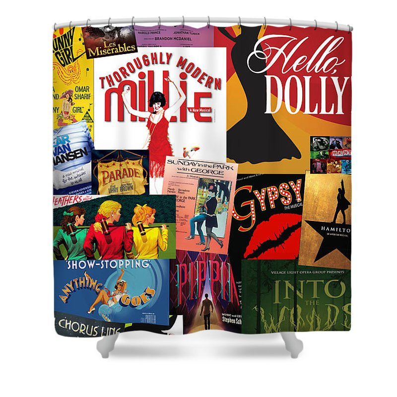Broadway Shower Curtain Featuring The Photograph 20 By Andrew Fare