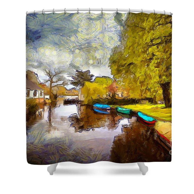 Broek In Waterland Shower Curtain featuring the photograph Broek In Waterland by Eva Lechner