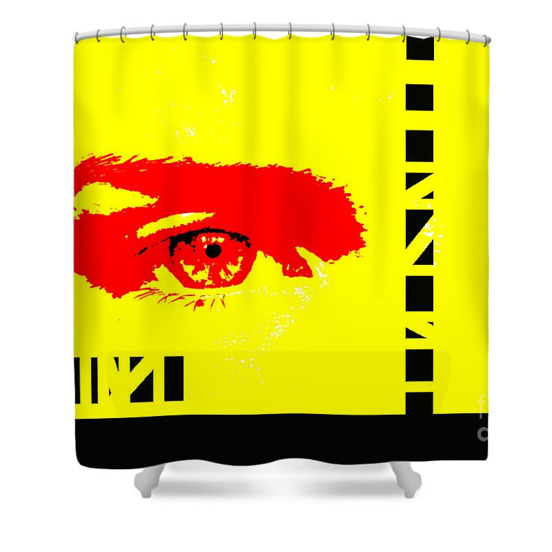 Eyes Shower Curtain featuring the photograph Broken by Amanda Barcon