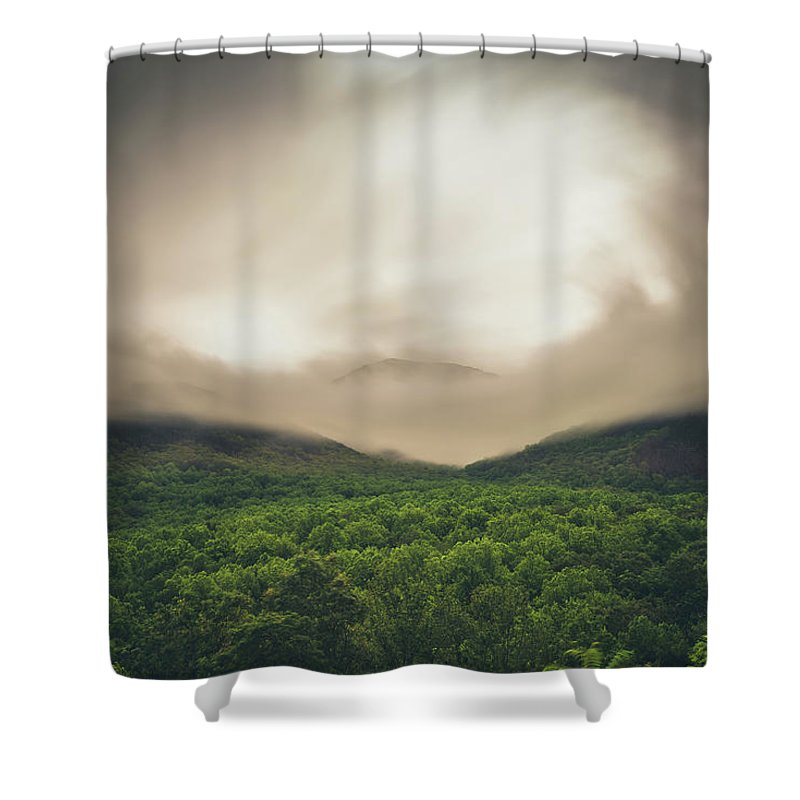 Mountains Shower Curtain featuring the photograph Broken Crown by Lawrence Morgan