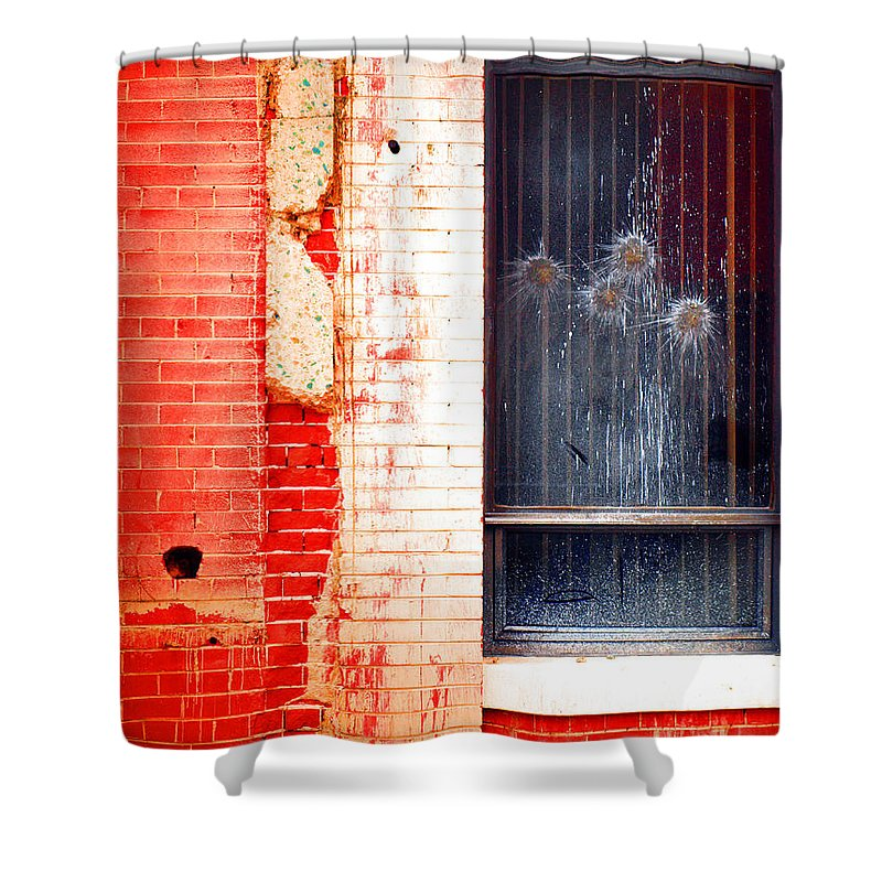 Glass Shower Curtain featuring the photograph Broken Glass Like Flowers by Tara Turner