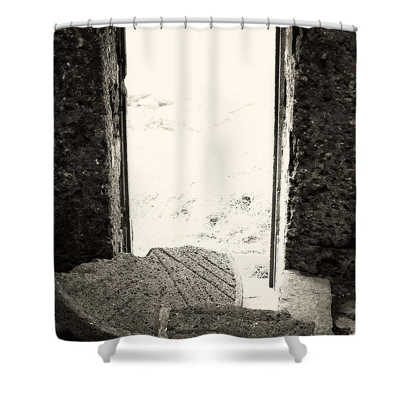 Azores Shower Curtain featuring the photograph Broken Millstone by Gaspar Avila