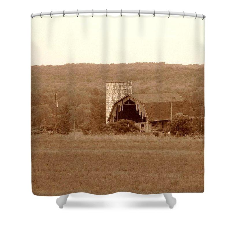 Barn Shower Curtain featuring the photograph Broken by Rhonda Barrett